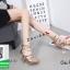 รองเท้าส้นเข็มรัดข้อสีทอง แบบซิปหลัง (สีทอง ) thumbnail 3