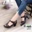 รองเท้าคัชชูหนังแกะ #ส้นสูงหนังแกะ แท้ 100% 8010-21-น้ำตาล [สีน้ำตาล ] thumbnail 1