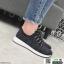 รองเท้าผ้าใบแฟชั่นงานผ้าจ้าา W88065-BLK [สีดำ] thumbnail 4