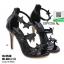 รองเท้าส้นสูงติดดาวหุ้มส้น 18-5548-BLK [สีดำ] thumbnail 4