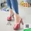 รองเท้าส้นสูงเปิดส้นสีแดง Muless Heels Shoes (สีแดง ) thumbnail 2