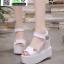 รองเท้าทรงเตารีดแบบรัดข้อ ST9-WHI [สีขาว] thumbnail 1