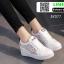 รองเท้าสวมส้นสูงหนัง pu AY077-WHI [สีขาว] thumbnail 4