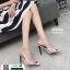 รองเท้าส้นสูงหัวแหลมแหลม ใสเปิดส้น H178-A12-WHI [สีขาว] thumbnail 2