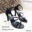 รองเท้าส้นสูงคาด 2 สาย A461-ดำ [สีดำ] thumbnail 5