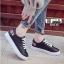 รองเท้าผ้าใบนำเข้า สไตล์เกาหลี K0416-BLACK [สีดำ] thumbnail 5