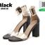 รองเท้าส้นสูงรัดข้อสีดำ หน้าสวมพลาสติกใสนิ่ม (สีดำ ) thumbnail 1