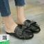 รองเท้าส้นเตี้ยสีดำ สไตล์กุชชี่ (สีดำ ) thumbnail 2