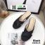 รองเท้าส้นเตารีด หน้าไขว้ กากเพชร 3082B-45-BLK [สีดำ] thumbnail 1