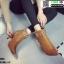 รองเท้าบุทส้นเข็มหุ้มข้อ ST621-TAN [สีแทน] thumbnail 1