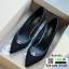 คัชชู ด้านหน้าทรงวี เก็บหน้าเท้า G-1354-BLK [สีดำ] thumbnail 5
