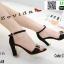 รองเท้าส้นเหลี่ยมรัดข้อหุ้มส้น 17-2209-BLK [สีดำ] thumbnail 1