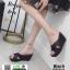 รองเท้าส้นเตารีด หน้าไขว้ กากเพชร 3082B-45-BLK [สีดำ] thumbnail 2