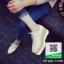 รองเท้าคัทชูเสริมส้นสีครีม ทรงมัฟฟิน ลายไม้ (สีครีม ) thumbnail 2