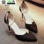 รองเท้าส้นสูงแบบหัวแหลม แต่งกลิตเตอร์ 519-ดำ [สีดำ] thumbnail 4