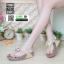 รองเท้าสุขภาพ ฟิทฟลอปหนีบ แต่งดอกไม้ F1080-GLD [สีทอง] thumbnail 1