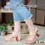 รองเท้าลำลองส้นเตารีดแบบรัดส้น M1824-CRE [สีครีม] thumbnail 2