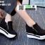 รองเท้าผ้าใบเสริมส้น ST014-BLK [สีดำ] thumbnail 3