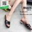 รองเท้าแตะแฟชั่นสีดำ Style Ysl หนังเงานิ่ม (สีดำ ) thumbnail 3