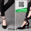 รองเท้าคัทชูส้นสูงสีดำ หัวแหลม เว้าด้านข้าง (สีดำ ) thumbnail 3