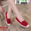 รองเท้าผ้าใบแคนวาส งานปักน่ารัก L-345-380-RED [สีแดง] thumbnail 1