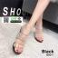 รองเท้าส้นแก้ว งานใหม่ล่าสุด 816-1-BLK [สีดำ] thumbnail 3