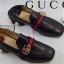 รองเท้าคัทชูแฟชั่นสีดำ Gucci Leather Mid-Heel Loafer (สีดำ ) thumbnail 5