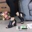 รองเท้าส้นสูง ฉลุลายสุดหรู 711102-BLACK [สีดำ ] thumbnail 2