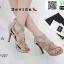 รองเท้าส้นสูงหุ้มข้อ วัสดุผ้านุ่ม 17-2317-CRM [สีครีม] thumbnail 1