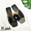 รองเท้าแตะแฟชั่น สวมใส่ง่าย สายไขว้ G-1459-BLK [สีดำ] thumbnail 4