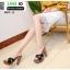 รองเท้าส้นสูงเสริมหน้า หน้าไขว้ 907-2-BLK [สีดำ] thumbnail 4