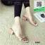 รองเท้าแตะผู้หญิงสีชมพู pu ใส นิ่มไม่บาดเท้า (สีชมพู )