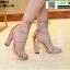 รองเท้าส้นแท่งหุ้มท้าย ST85111-GLD [สีทอง] thumbnail 1