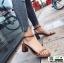 รองเท้าส้นสูงรัดส้น เปลือยเท้า G-1382-BWN [สีน้ำตาล]