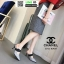 รองเท้าเปิดส้น หัวแหลม ลายสก๊อต C3-11-BLK [สีดำ] thumbnail 1