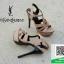 รองเท้าส้นสูงรัดส้นสีครีม YSL Tribute-Platfofm (สีครีม ) thumbnail 6