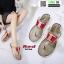 รองเท้าแตะส้นแบน jelly sandals TIT04-RED [สีแดง] thumbnail 2