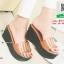 รองเท้าส้นเตารีดสีน้ำตาล สไตล์ลำลอง (สีน้ำตาล ) thumbnail 3