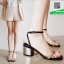 รองเท้าส้นตันรัดข้อสีดำ สไตล์ ZARA (สีดำ )