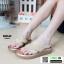 รองเท้าแตะลำลองแบบคีบ วัสดุหนัง PU PU6118-GLD [สีทอง] thumbnail 1