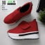 รองเท้าผ้าใบเสริมส้น หนัง pu ญี่ปุ่นกันฝุ่น A06-แดง [สีแดง] thumbnail 4