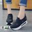 รองเท้าผ้าใบเสริมส้นนำเข้า สไตล์เกาหลี B38-BLACK [สีดำ] thumbnail 3