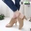 รองเท้าส้นสูงหน้าเต็ม งานสไตล์ปราด้า รัดข้อ 1202-ครีม [สีครีม] thumbnail 1