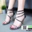 รองเท้าส้นเข็ม สายคาดหน้าหนังปรอท G1281-GRY [สีเทา]