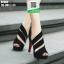 รองเท้าส้นสูงเปิดหน้าหุ้มส้น ST902-BLK [สีดำ]