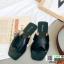 รองเท้าแตะแฟชั่น สวมใส่ง่าย สายไขว้ G-1459-BLK [สีดำ] thumbnail 1