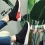 รองเท้าผ้าใบถุงเท้าแบบสวม ST013-RED [สีแดง] thumbnail 3