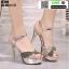 รองเท้าส้นสูงรัดข้อเปิดท้าย ST208-GLD [สีทอง] thumbnail 3