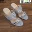 รองเท้าส้นสูงแบบสวมเปิดส้น DY9661-SIL [สีเงิน] thumbnail 1