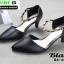 รองเท้าคัชชู หนังนิ่ม แบบเปิดข้าง B8-456-BLK [สีดำ] thumbnail 2